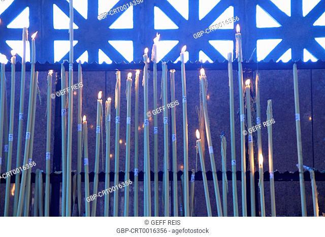 Sao Paulo; SP; Basilica of the National Shrine of Our Lady of Aparecida; Chapel of the Candles; Brazil