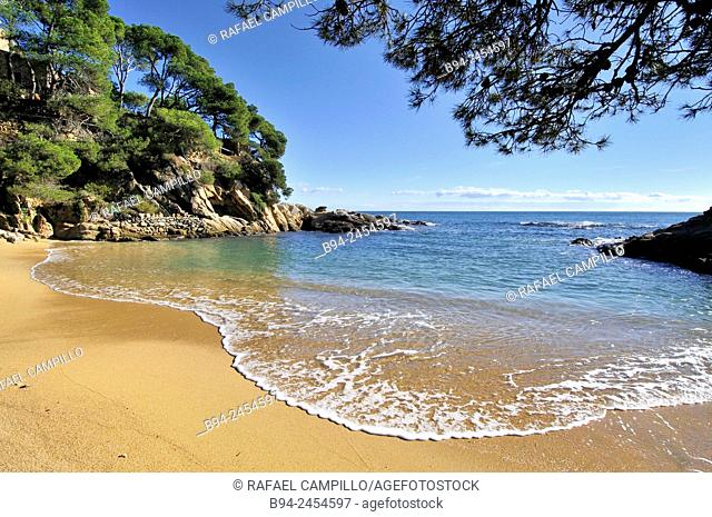 Costa Brava. Coastal región that stretches from Blanes, 60 km northeast of Barcelona, to the French border. Cap Roig coast. Girona. Catalonia. Spain