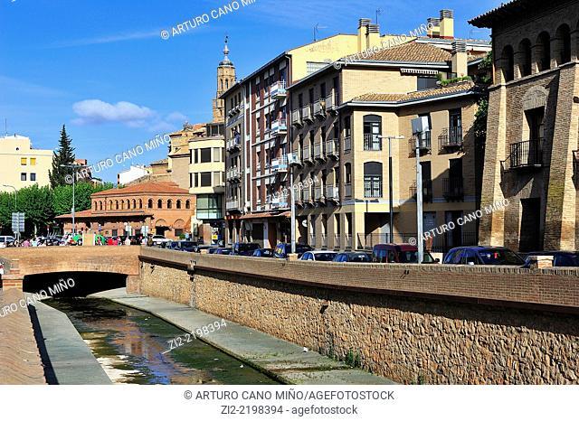 River Queiles, Tarazona, Zaragoza province, Spain