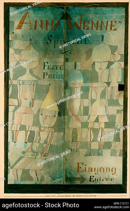 Window Display for Lingerie. Artist: Paul Klee (German (born Switzerland), Münchenbuchsee 1879-1940 Muralto-Locarno); Date: 1922; Medium: Watercolor and ink on...