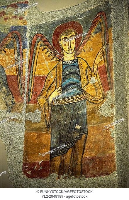 Romanesque frescoes from the Church of Sant Clement de Taull, Vall de Boi, Alta Ribagorca, Spain. Painted around 1123. National Art Museum of Catalonia