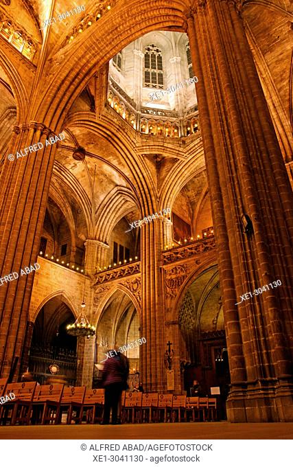 Cathedral of Santa Eulalia, Cathedral of Barcelona, Catalonia, Spain