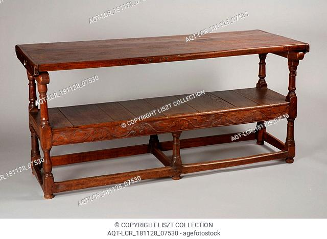 English oak table bench, table bench furniture furniture interior design oak wood h 81.0, By placing the table top upright