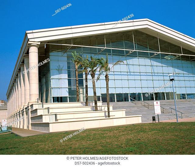 National Theatre of Catalonia by Ricard Bofill, Barcelona. Catalonia, Spain