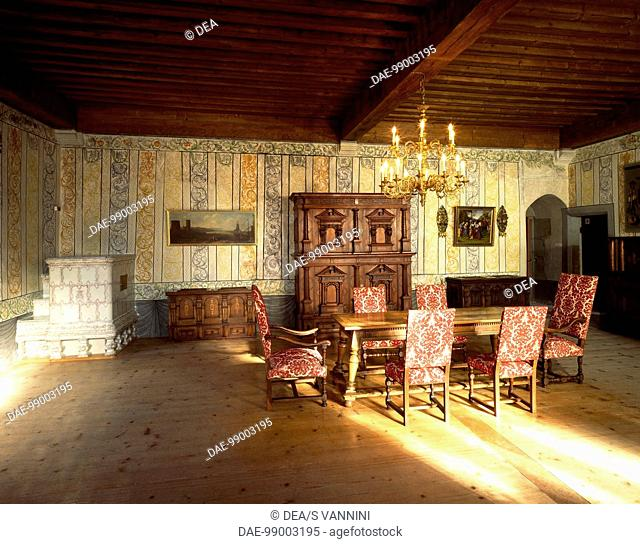 Bailiff room, Gruyeres Castle, Switzerland