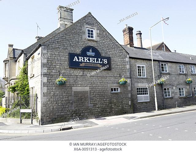 Nineteenth century industrial buildings of Arkell's brewery, Kingsdown, Swindon, Wiltshire, England, UK