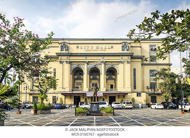 Manila city hall building exterior in philippines