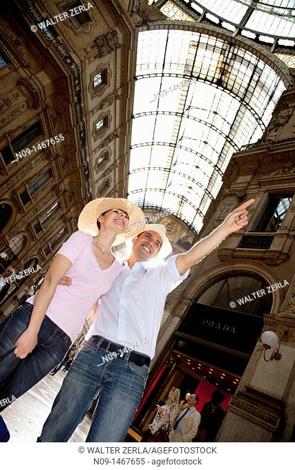Young couple in Milan