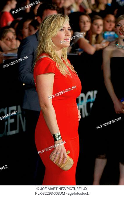 Kate Winslet at the premiere of Summit Entertainment's Divergent. Arrivals held at the Regency Bruin Theatre in Westwood, CA, March 18, 2014