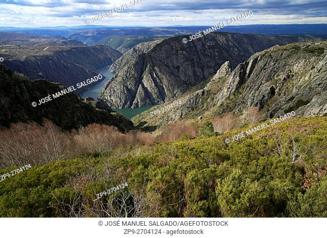 """River Sil Canyon, between the provinces of Ourense and Lugo, in the so-called """"""""Ribeira Sacra"""""""""""