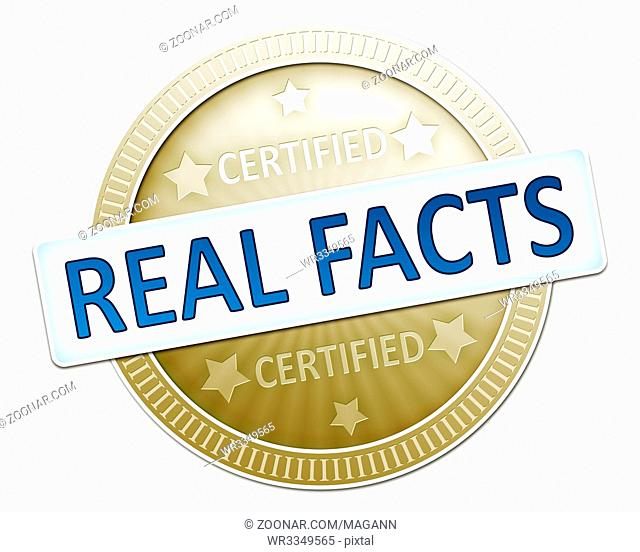 An illustration of a certified real facts sign
