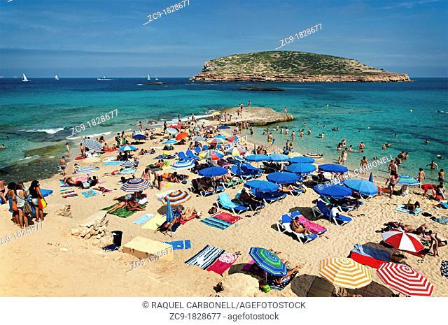 Cala Comte beach  Ibiza, Balearic Islands, Spain