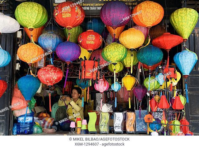 handcrated lanterns shop  Hoi An, Vietnam, Asia