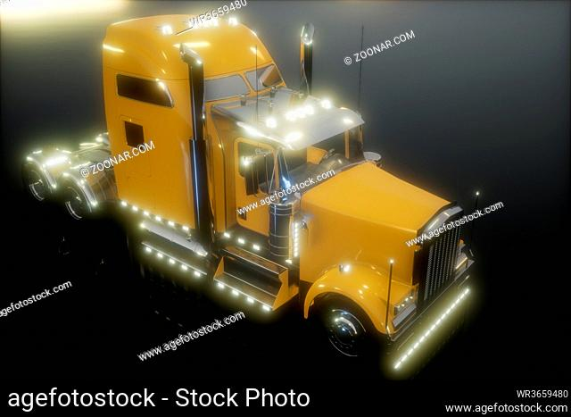 bright american lorry track in studio