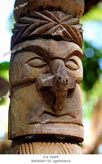 totem at +le des Pins, New Caledonia, Ile des Pins