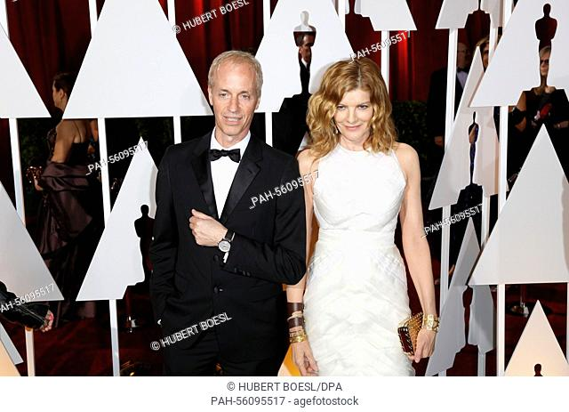 Actress Rene Russo and her husband Dan Gilroy attend the 87th Academy Awards, Oscars, at Dolby Theatre in Los Angeles, USA, on 22 February 2015