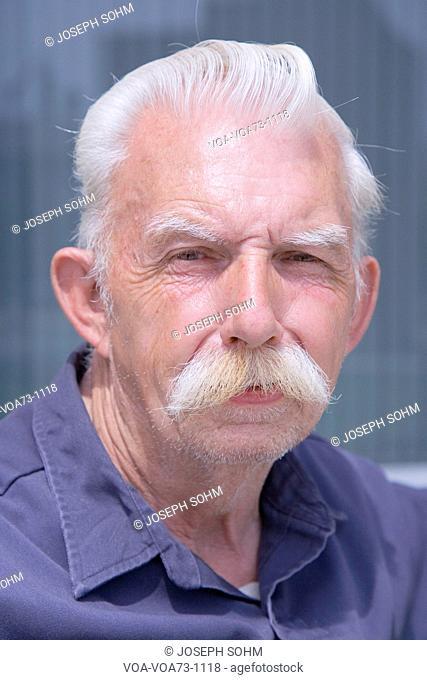 Portrait of a Male Senior Citizen, Quincy, Ma., USA
