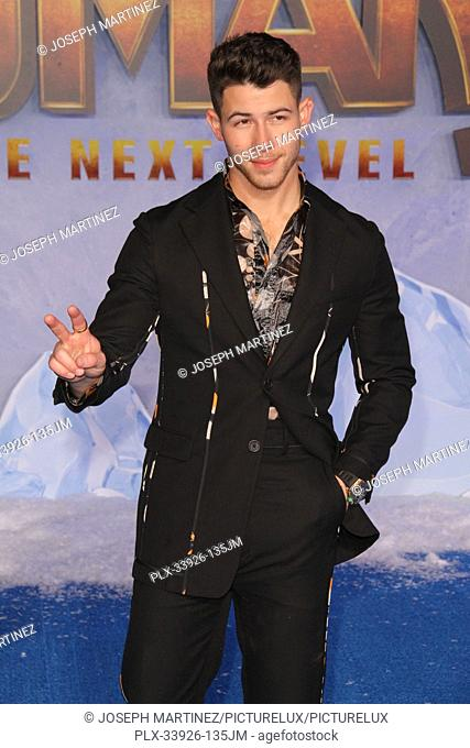 """Nick Jonas at Sony Pictures' """"""""Jumanji: The Next Level"""""""" World Premiere held at the TCL Chinese Theater in Hollywood, CA, December 9, 2019"""