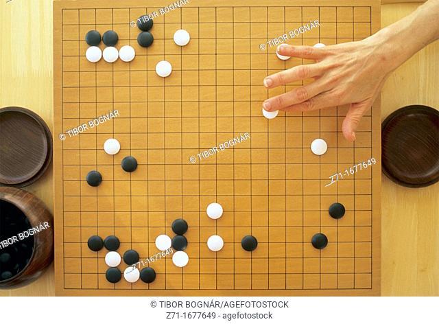Japan, go, oriental strategic board game