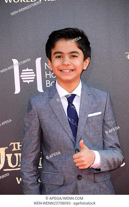 Premiere of Walt Disney's 'The Jungle Book' - Arrivals Featuring: Neel Sethi Where: Los Angeles, California, United States When: 05 Apr 2016 Credit: Apega/WENN