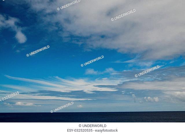 Windy Big Clouds near The Atlantic Ocean