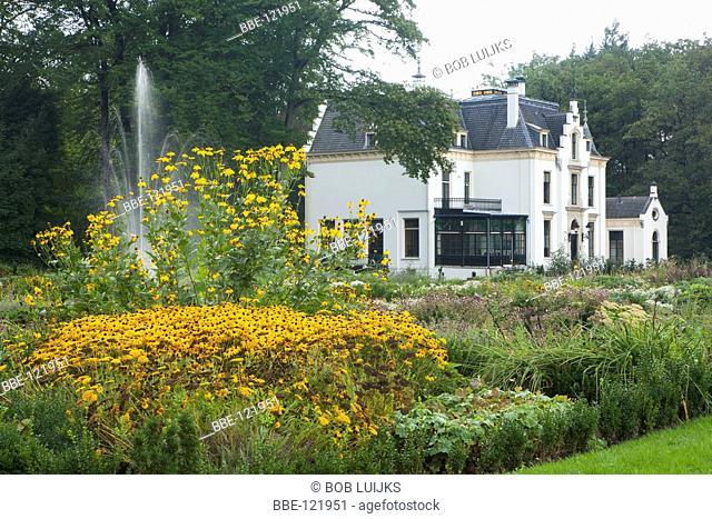 The estate Staverden with beautiful garden