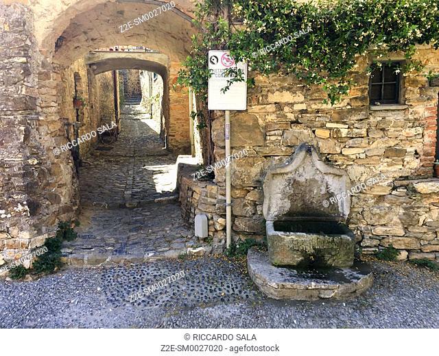 Italy, Liguria, Colla Micheri, Old Village. . .