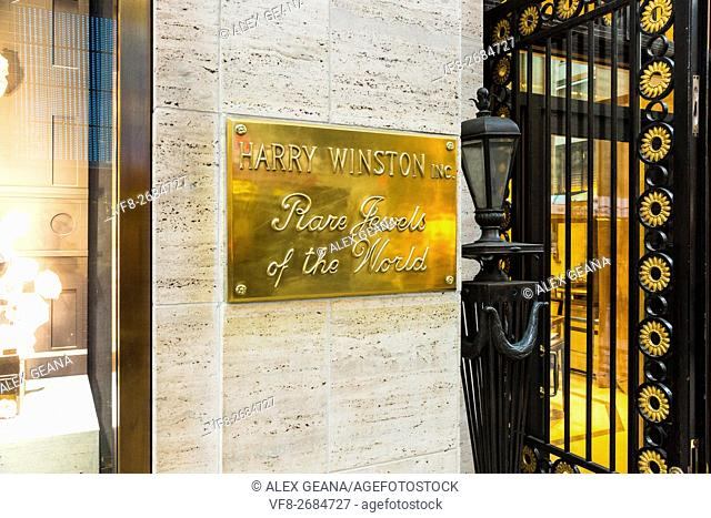 The flagship store of the fine jeweler Harry Winston on 5th Avenue