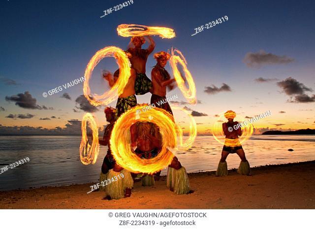 Fire Dance performance at Shangri-La Resort, Coral Coast, Viti Levu Island, Fiji