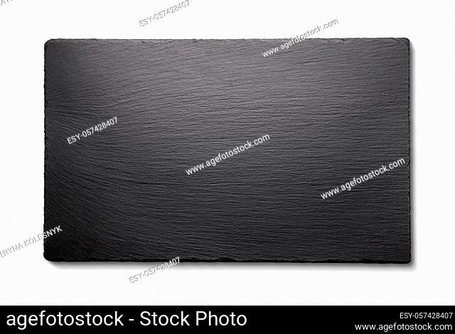 Black slate isolated on a white background