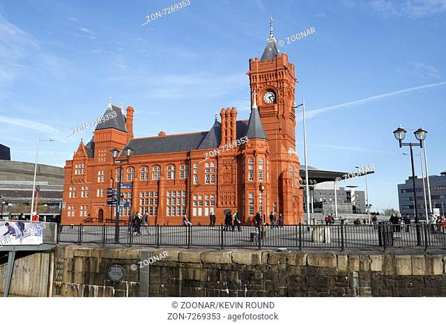 Pierhead Building in Cardiff Bay, Wales UK