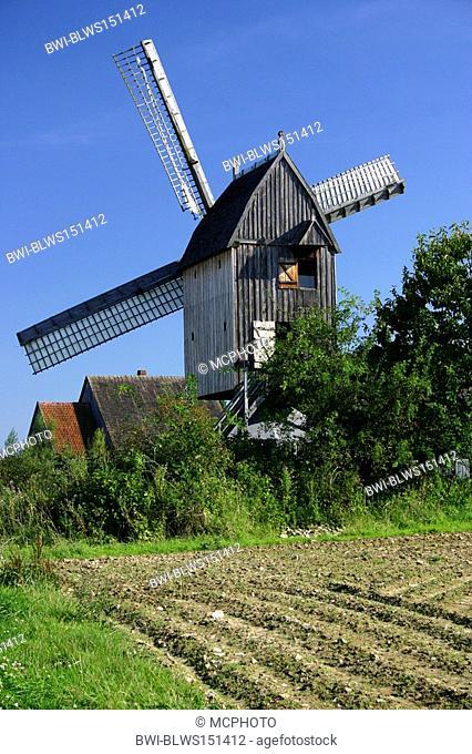 wind mill at open-air museum, Germany, North Rhine-Westphalia, Detmold