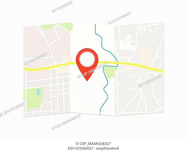 City Map Pointer Illustration