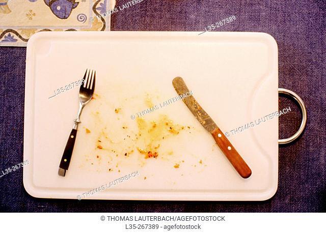 Dirty tray