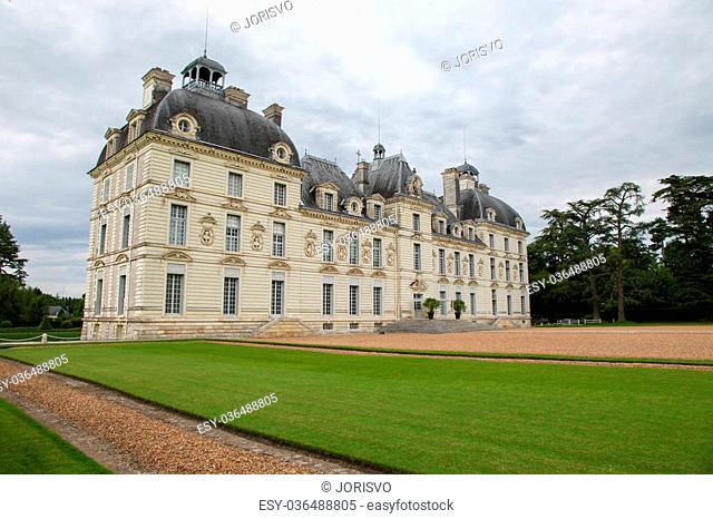 Chateau de Cheverny, a famous castle of the Loire valley in the departement Loir-et-Cher in France