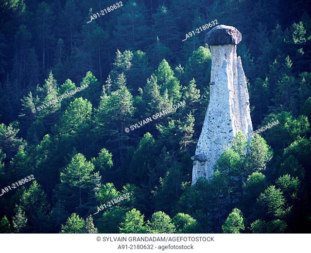 France, Hautes-Alpes department, Queyras natural park, fairy chimney