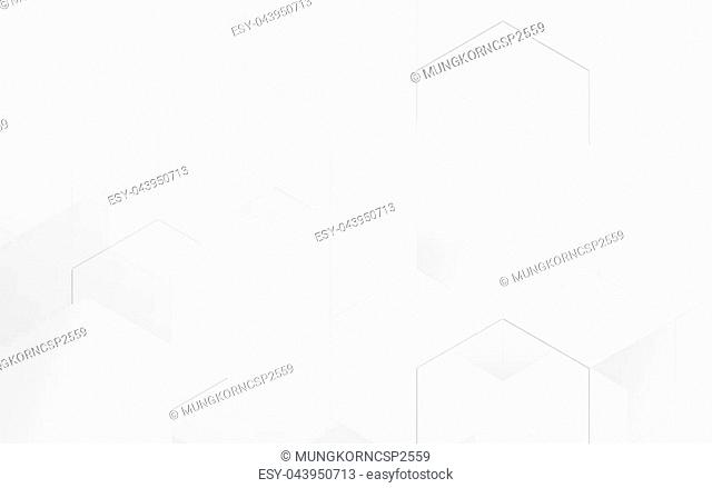 Abstract blue geometric hexagon background