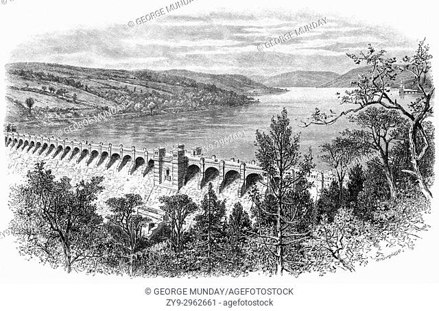 1890: Lake Vyrnwy is a reservoir in Powys, North Wales, built in the 1880s to supply Liverpool with fresh water. It flooded the head of the Vyrnwy valley and...