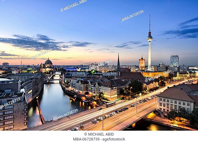 Berlin skyline panorama during sunset, Germany
