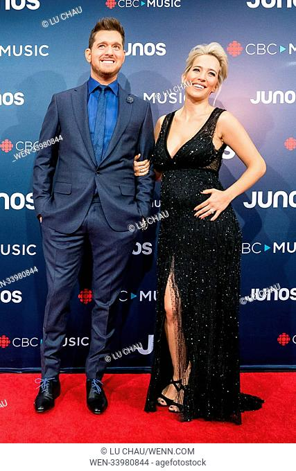 2018 JUNO Awards, held at the Rogers Arena in Vancouver, Canada. Featuring: Michael Bublé, Luisana Lopilato Where: Vancouver, British Columbia