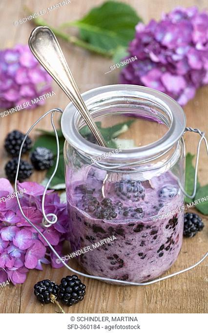 Blackberry quark in a jar