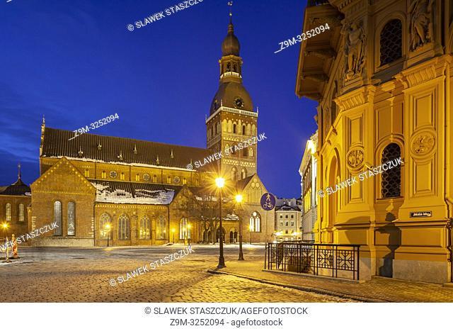 Dawn at Riga Cathedral, Latvia
