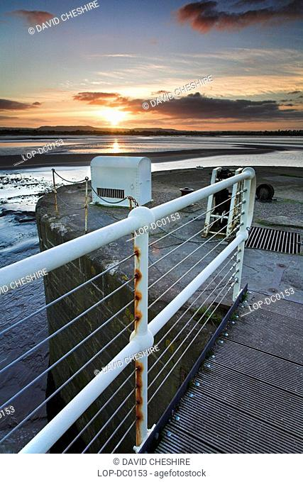View across the river Severn from the loch gates at the entrance to the main basin of Lydney Dock. The first phase of an extensive refurbishment of the dock has...
