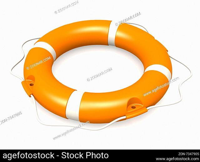 Life buoy concept image with hi-res rendered artwork that could be used for any graphic design