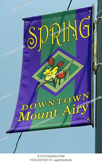 Mount Airy, NC, North Carolina, Downtown, welcome banner