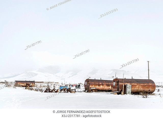 Old deposits transformed into shacks, Armenia