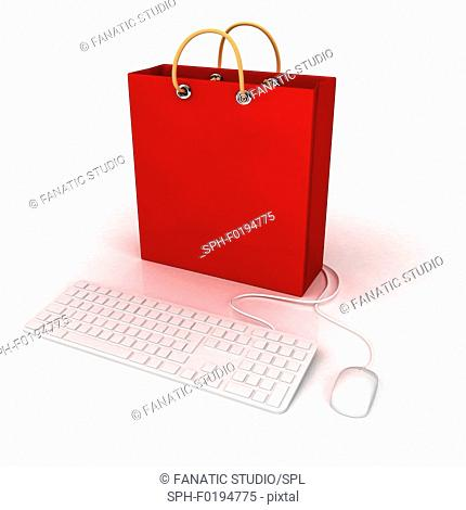 Conceptual illustration of online shopping
