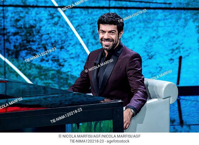 The actor Pierfrancesco Favino during the tv show Che tempo che fa, Milan, ITALY-11-02-2018