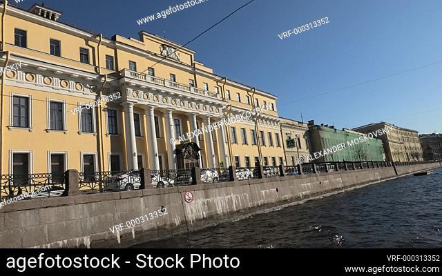 Yusupov Palace.Moika river boat trip. Saint Petersburg Russia Europe