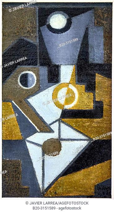 """""""""""""""The Envelope"""""""", 1918, Juan Gris, National Museum of Catalan Art, Museu Nacional d Art de Catalunya, MNAC, Barcelona, Spain, Europe"""